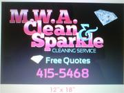 M.W.A clean@sparkle cleaning service